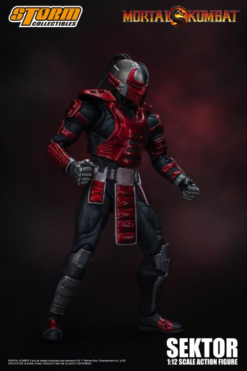Action Figure Sektor: Mortal Kombat Escala 1/12 - Storm Collectibles