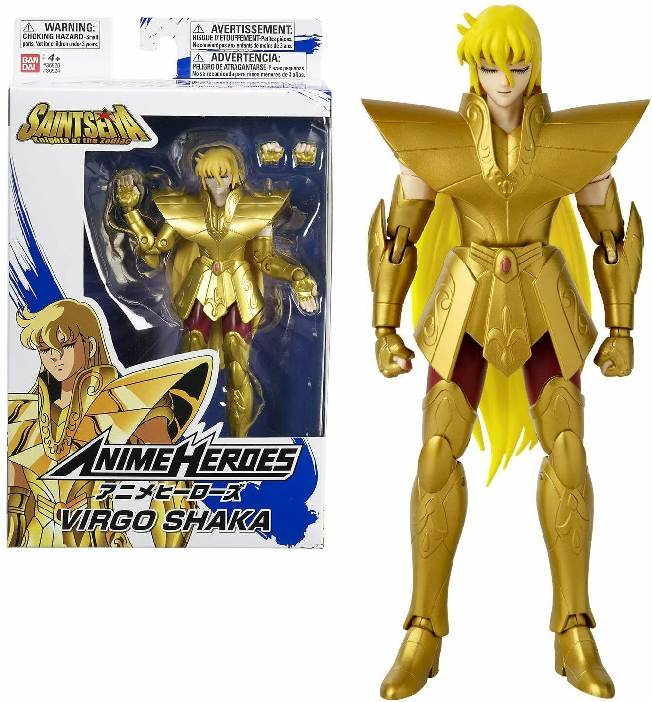 Action Figure Shaka de Virgem: Os Cavaleiros dos Zodíaco (Anime Heroes) Anime Mangá - Bandai
