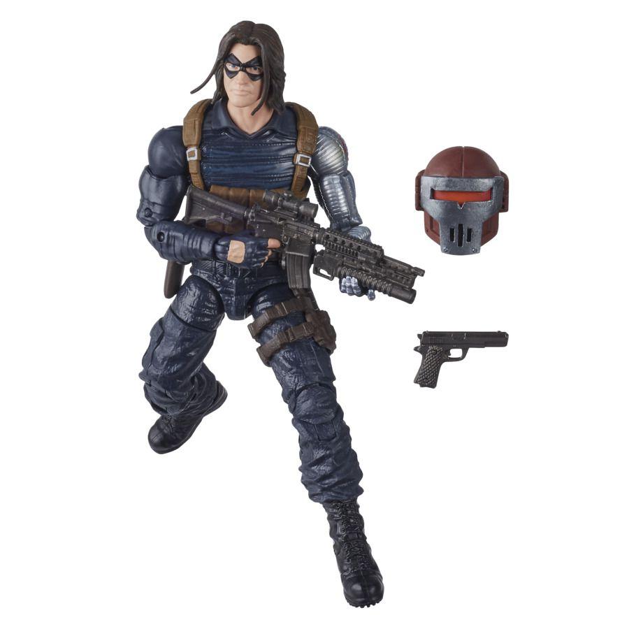 Action Figure Soldado Invernal (Winter Soldier): Crimson Dynamo Build-A-Figure Marvel Legends Series E8770 - Hasbro