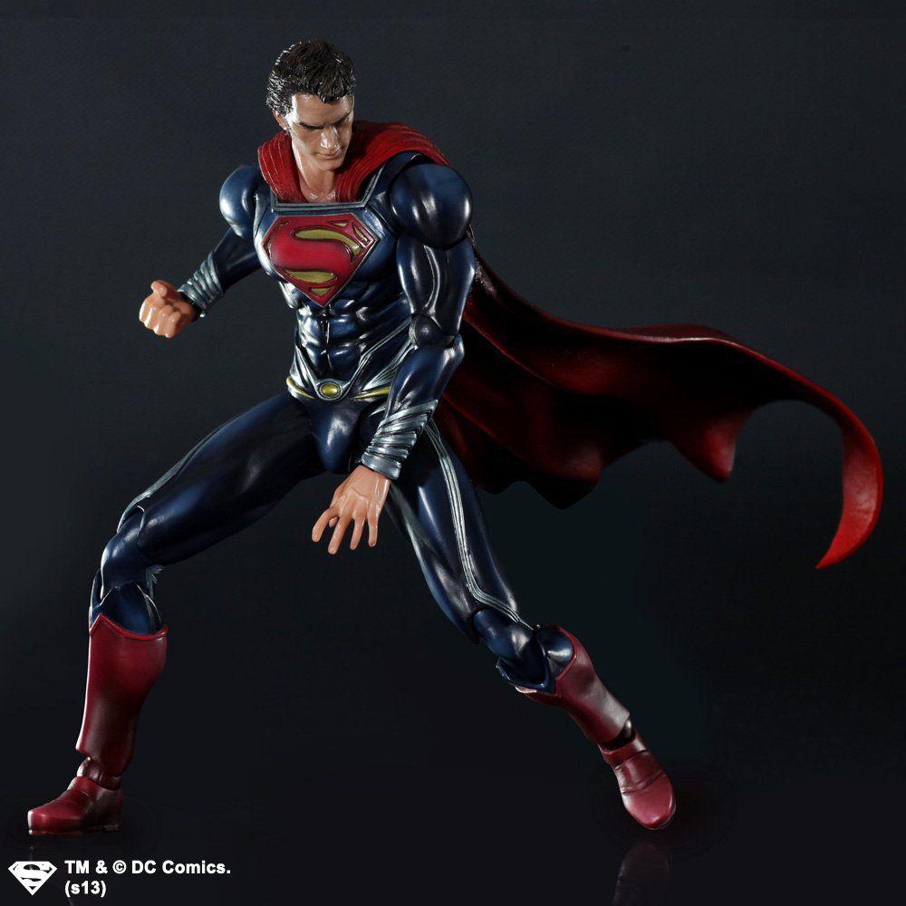 Action Figure Super-Homem (Superman): O Homem de Aço (Man Of Steel) Boneco Colecionável - Play Arts Kai Square Enix