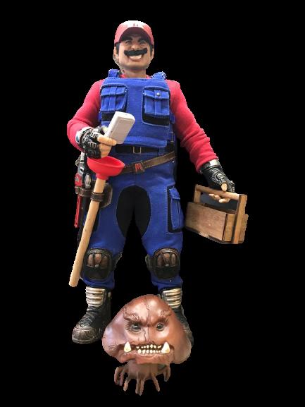 Action Figure Mario: Super Mario Bros