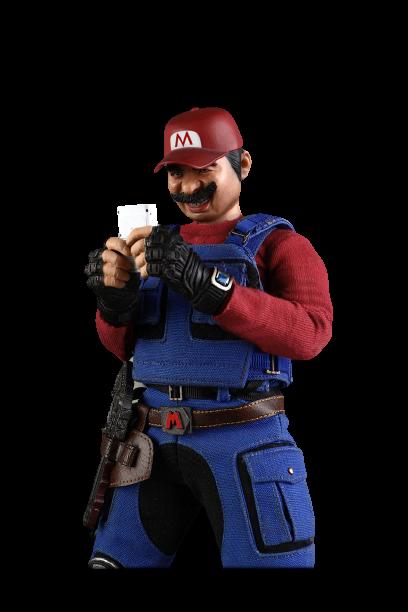 """Action Figure Mario: Super Mario Bros """"Super Waterway Workers Mali'' Escala 1/6 - D7Toys"""