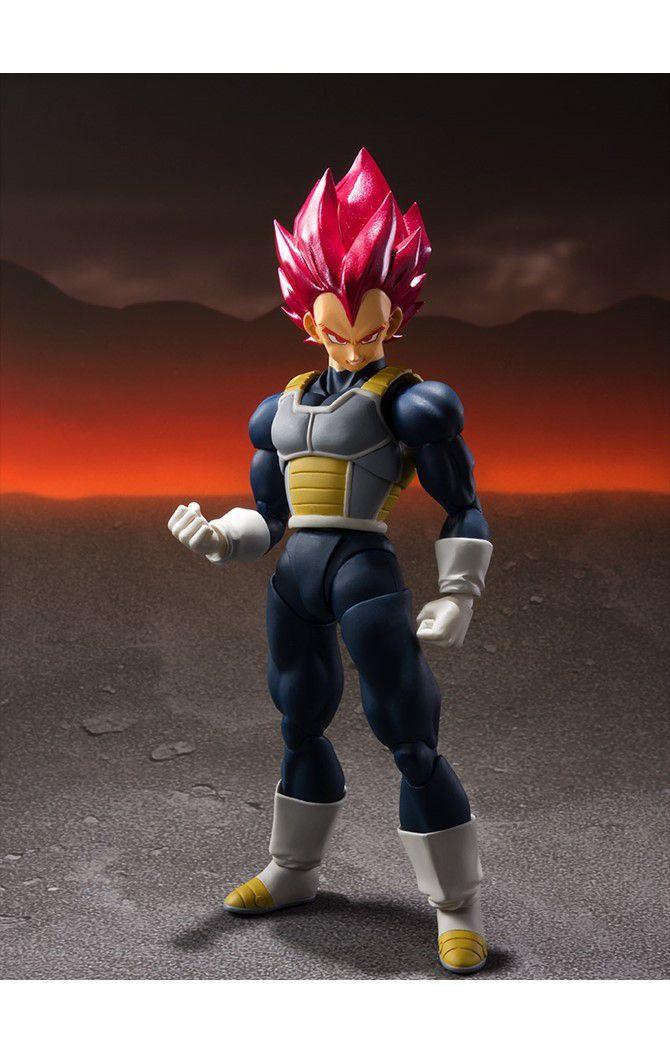 Action Figure Super Saiyan God Vegeta: Dragon Ball Z (S.H.Figuarts) Boneco Colecionável - Bandai - CD