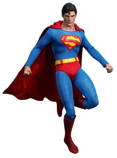 Action Figure Superman (Super-Homem): Superman O Filme (Super-Homem The Movie) Escala 1/6 (MMS152) Peça Exposta - Hot Toys (USADO E SEM CAIXA)
