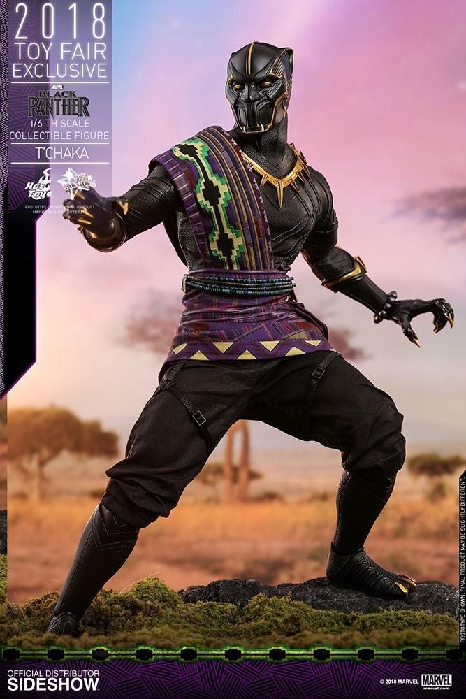 Action Figure T'Chaka: Pantera Negra (Black Panther) Escala 1/6 (MMS487) Exclusivo -  Hot Toys