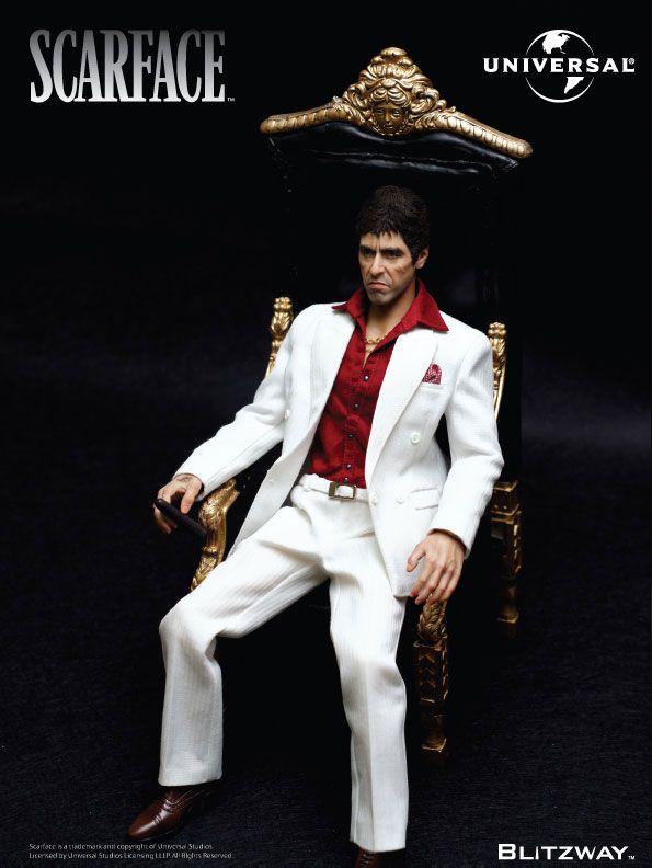 Action Figure Tony Montana: Scarface Escala 1/6 (Boneco Colecionável) - Blitzway