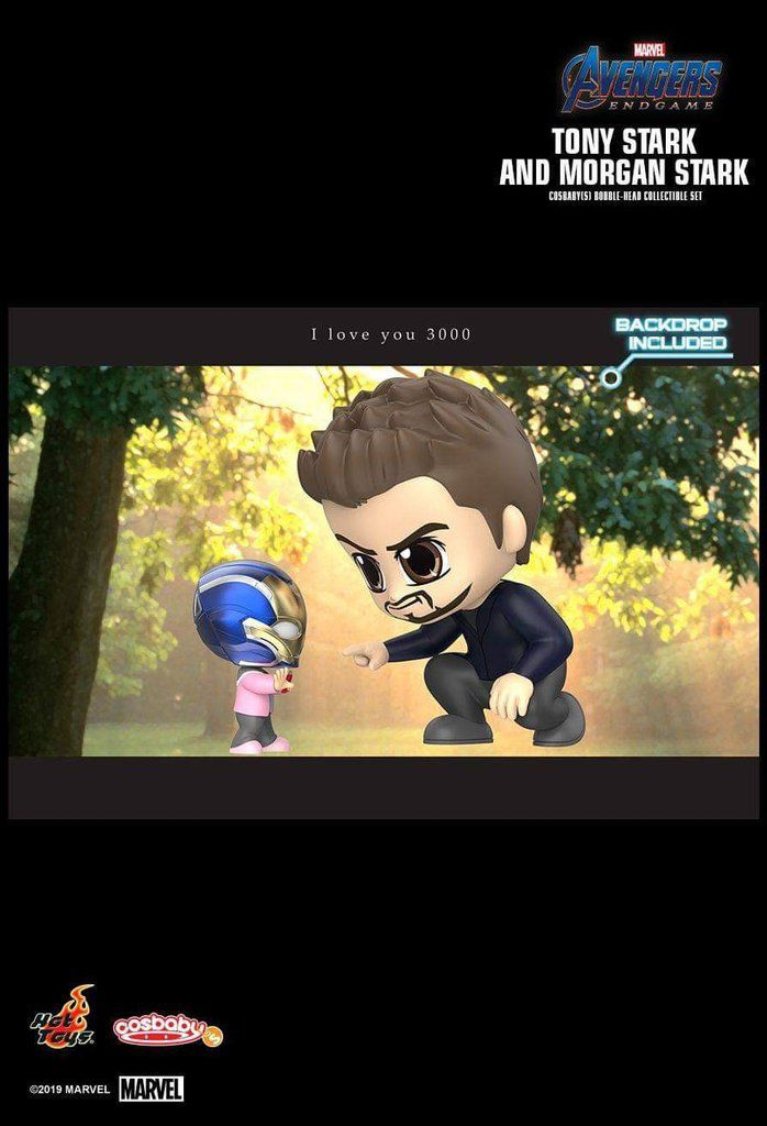 Cosbaby Tony Stark & Morgan: Vingadores Ultimato (Avengers Endgame) - Hot Toys
