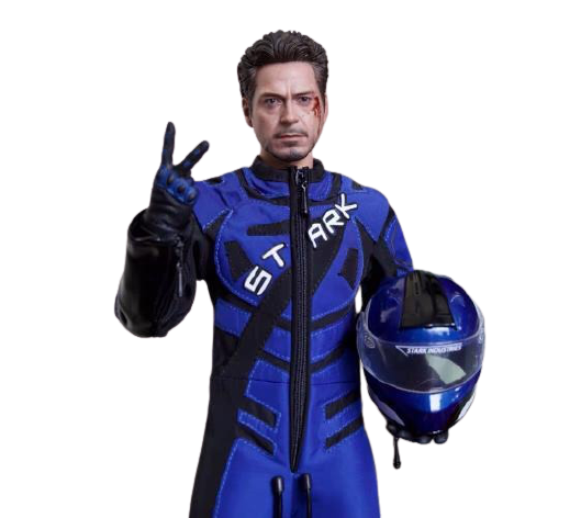 Action Figure Tony Stark Race Suite Roupa de Corrida Homem de Ferro 2 Iron Man 2 Escala 1/6 - Marvel Comics