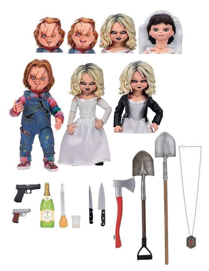 Action Figure Ultimate Chucky & Tiffany (2 Pack): A Noiva de Chucky (Bride of Chucky) - Neca