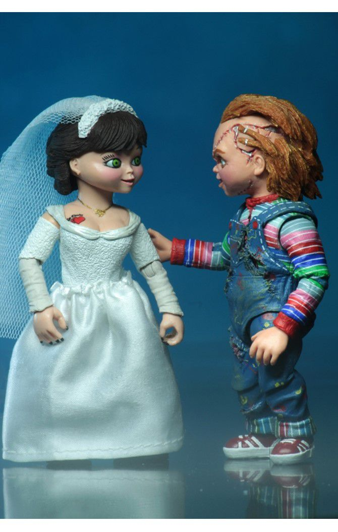 Action Figure Ultimate Chucky & Tiffany (2 Pack): A Noiva de Chucky (Bride of Chucky) - Neca