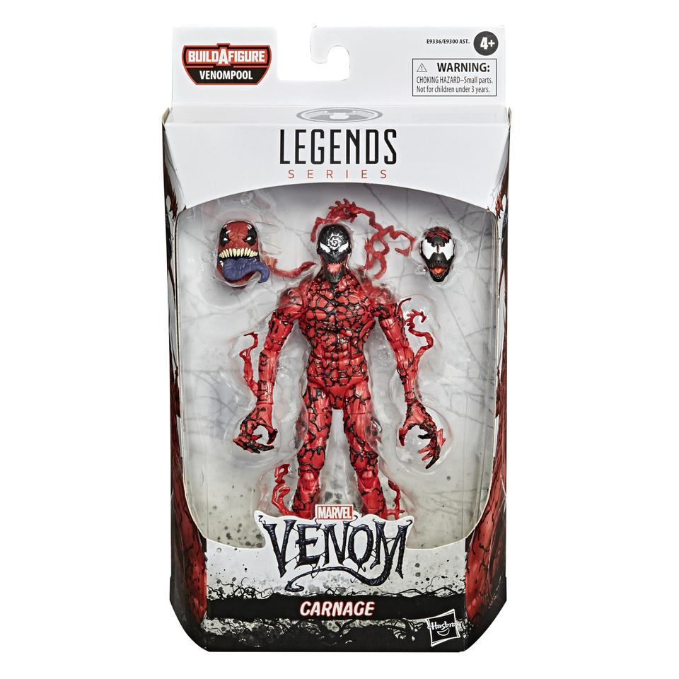 Action Figure Venom (Variante Carnage): Marvel Legends Series - Hasbro