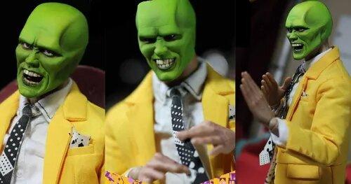 Action Figure Versão Dexlux Máskara + Stanley Ipkiss  : O Máskara (The Mask) (Escala 1/6) - Asmus Collectible