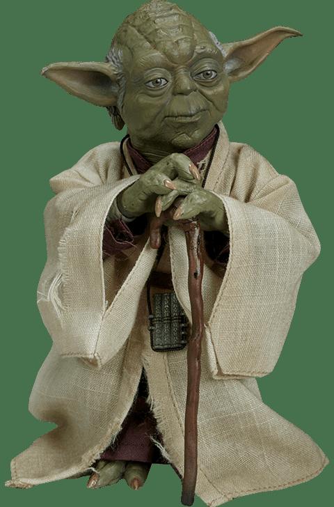 Action Figure Yoda: Star Wars Episódio V O império Contra Ataca (Episode V The Empire Strikes Back) Escala 1/6 Sixth Scale  - Sideshow Collectables
