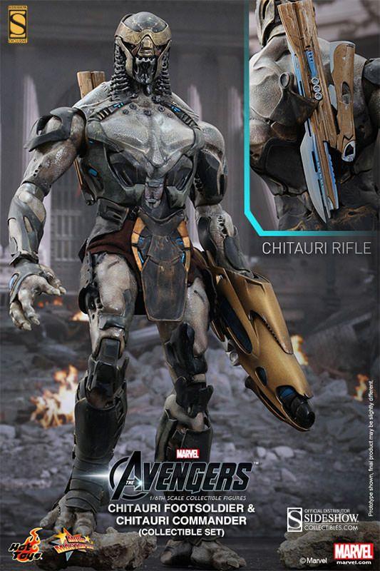 Action Figures Chitauri (Commander & Footsoldier): Vingadores (The Avengers) Bonecos Colecionáveis Escala 1/6 (MMS228) - Hot Toys