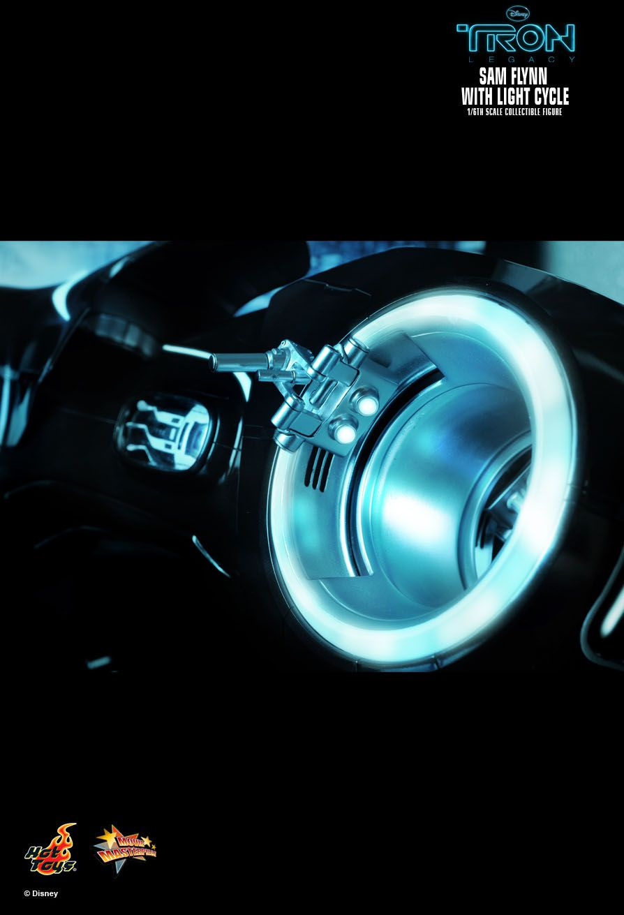 Action Figures Sam Flynn (With Light Cycle): Tron O Legado (Tron Legacy) Escala 1/6 (MMS142) - Hot Toys