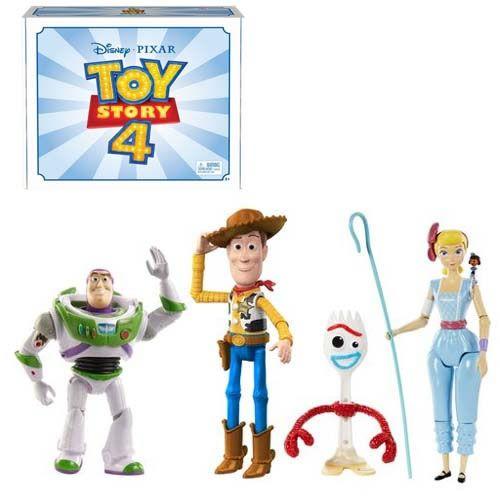 Action Figures Toy Story (Pack com 4): Toy Story 4 Bonecos Colecionáveis - Mattel