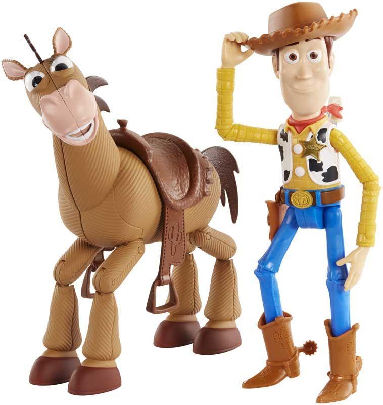 Action Figures Woody e Bala no Alvo (Bullseye) Adventure Pack: Toy Story 4 Bonecos Colecionáveis - Mattel