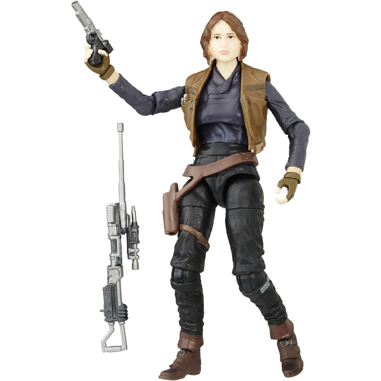 Action Jyn Erso: Star Wars Rogue One (The Black Series)  - Boneco Colecionável - Hasbro