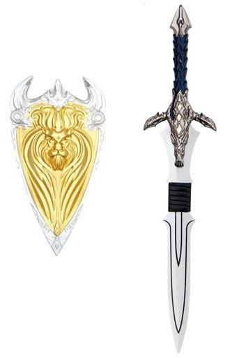 Adaga Com Escudo Varian Wrynn (Aliança): World Of Warcraft