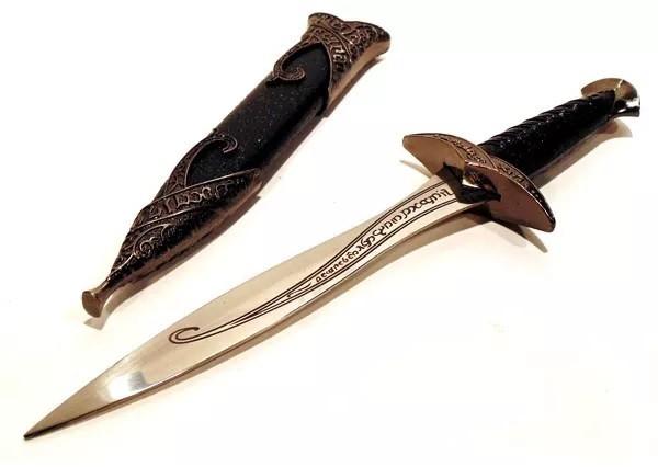 Adaga Frodo Sting: O Senhor dos Anéis (Lord Of The Rings) Preta Espada 30cm