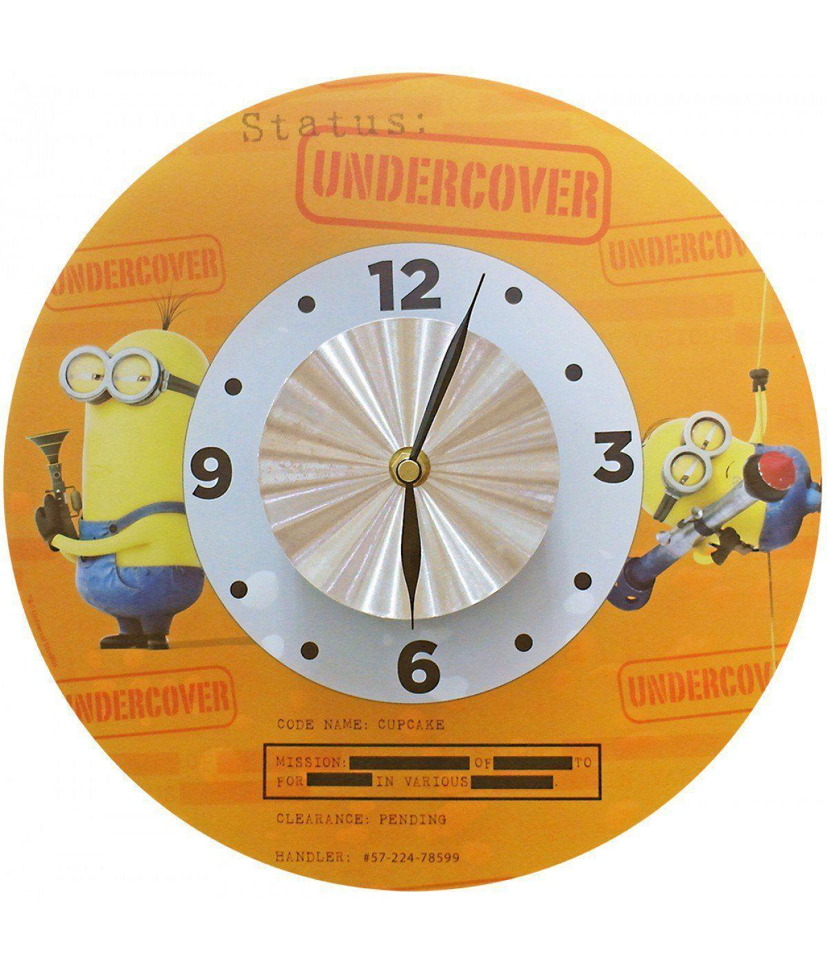 Adesivo Com Relógio Minions (Laranja): Meu Malvado Favorito