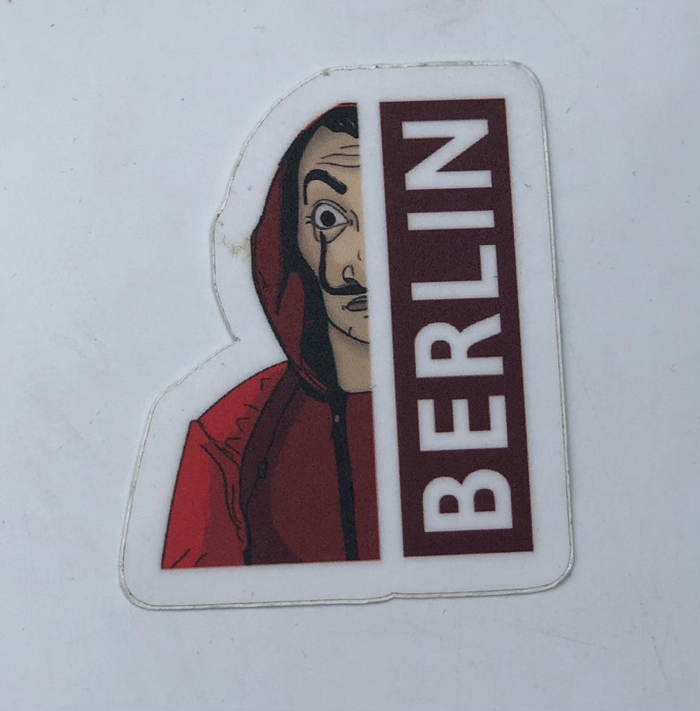 Adesivo (Sticker) Berlin: La Casa De Papel