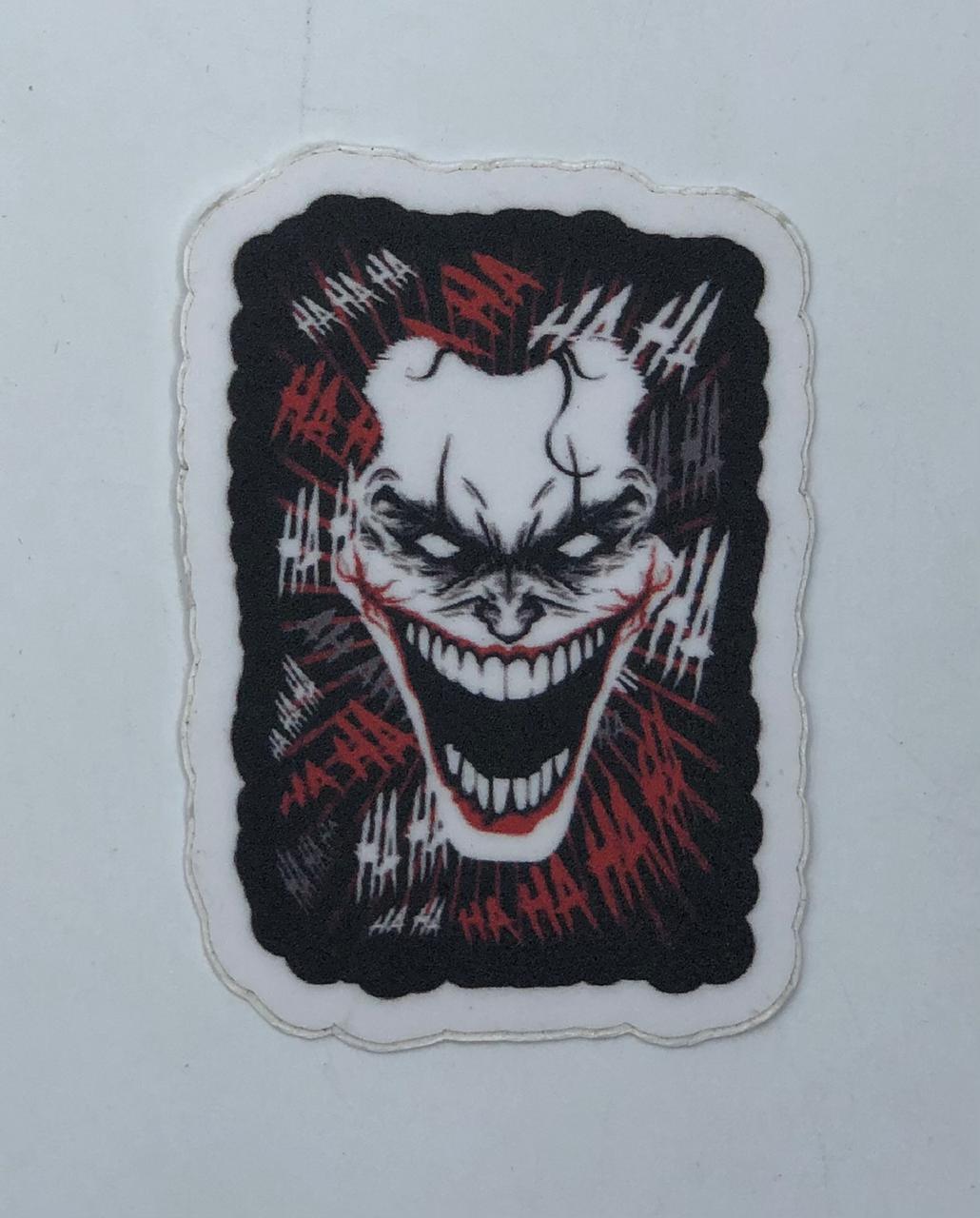 """Adesivo (Sticker) Coringa Joker """"HAHAHA"""": DC Comics"""