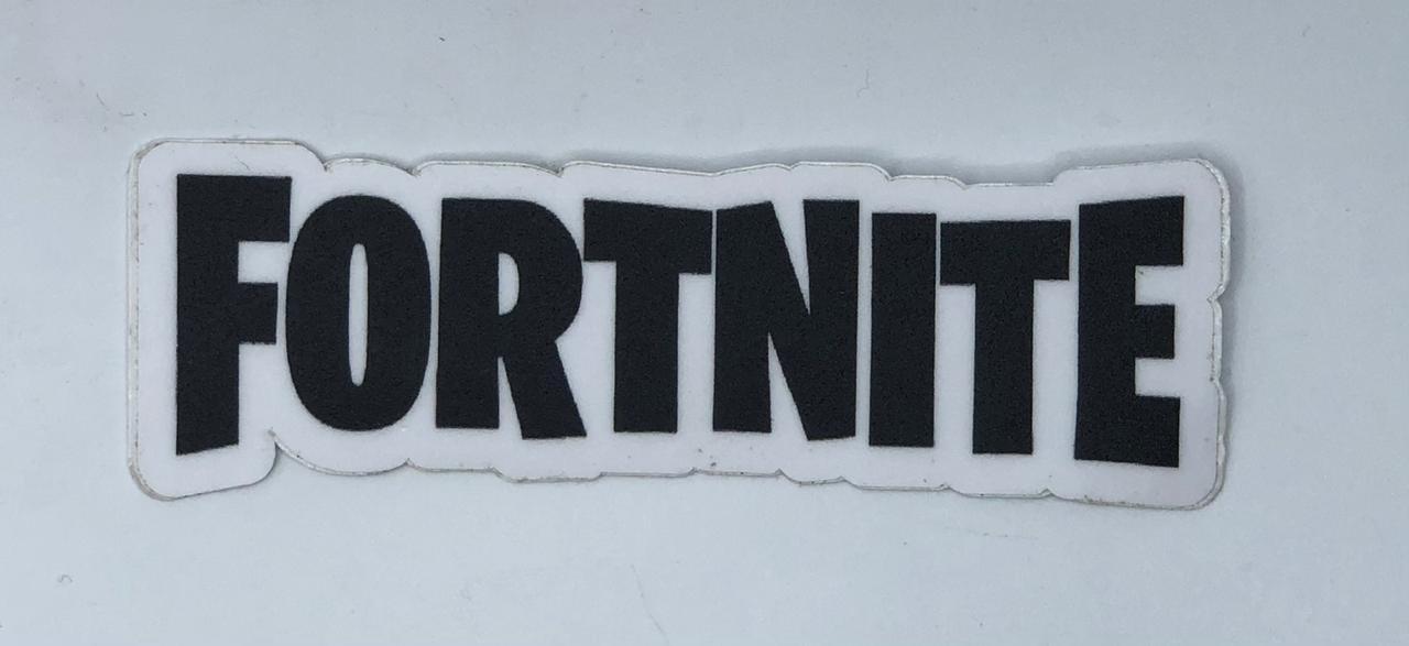 Adesivo (Sticker) Logo Fortnite (Preto)