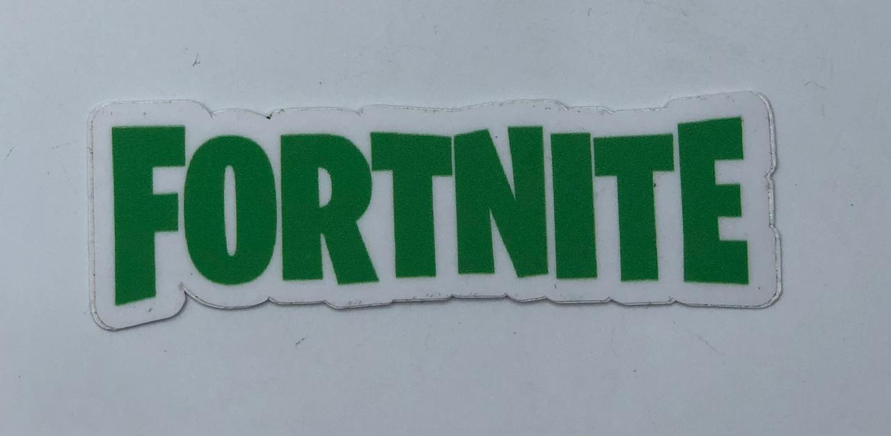 Adesivo (Sticker) Logo Fortnite (Verde)