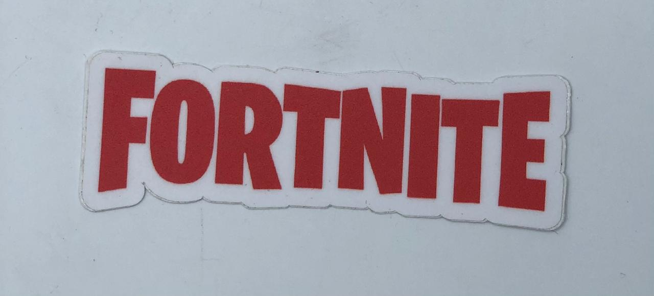 Adesivo (Sticker) Logo Fortnite (Vermelho)