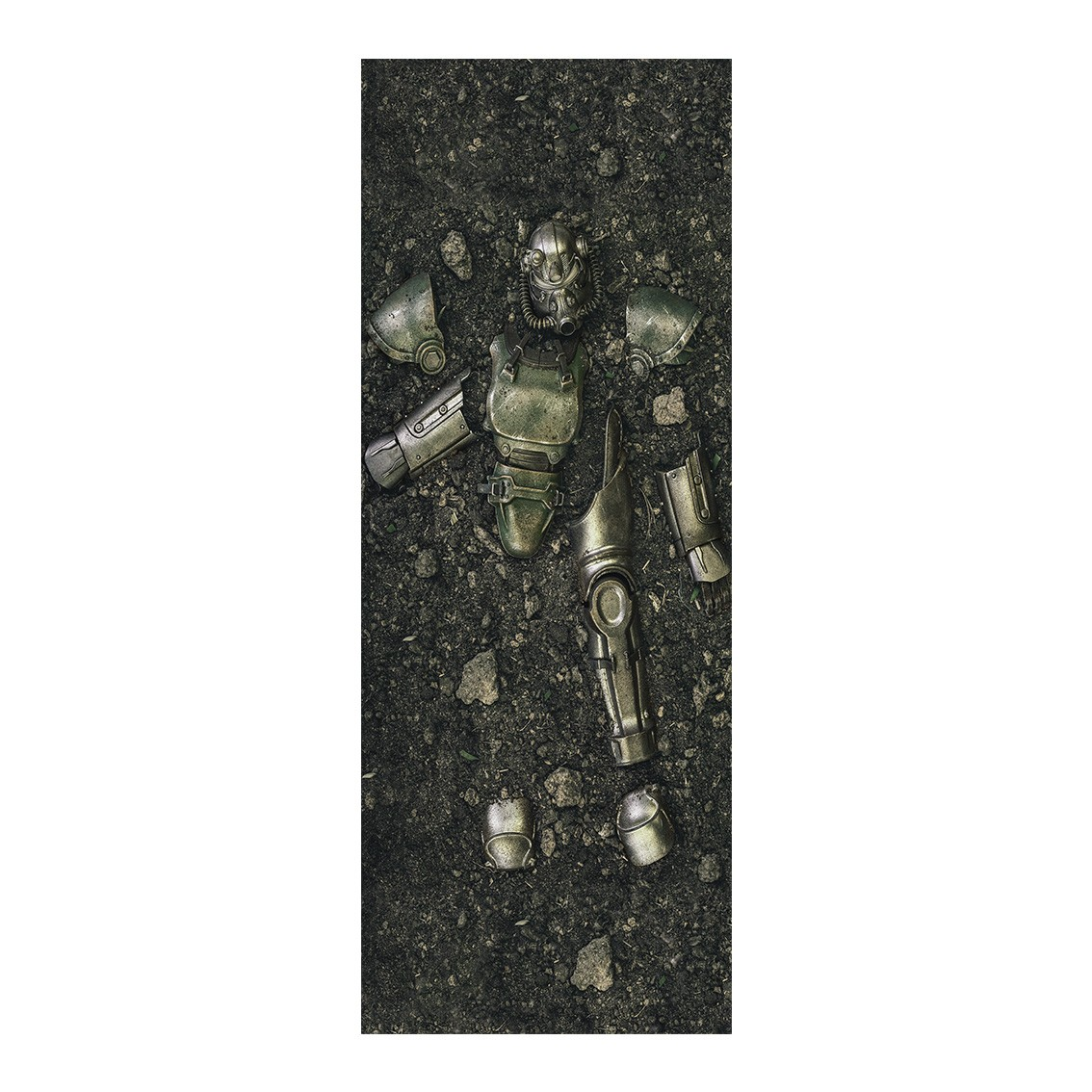 "Adesivo (Sticker) Para Porta ""Armadura Power Armor"": Fallout - Exclusivo"