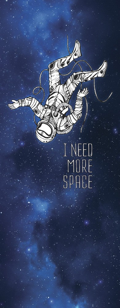 """Adesivo (Sticker) Para Porta Astronauta: """"I Need More Space""""  - Toyshow Geek e Colecionáveis Tudo em Marvel DC Netflix Vídeo Games"""
