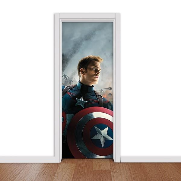 Adesivo (Sticker) Para Porta Capitão América: Vingadores Guerra Infinita (Avengers Infinity War) - Marvel