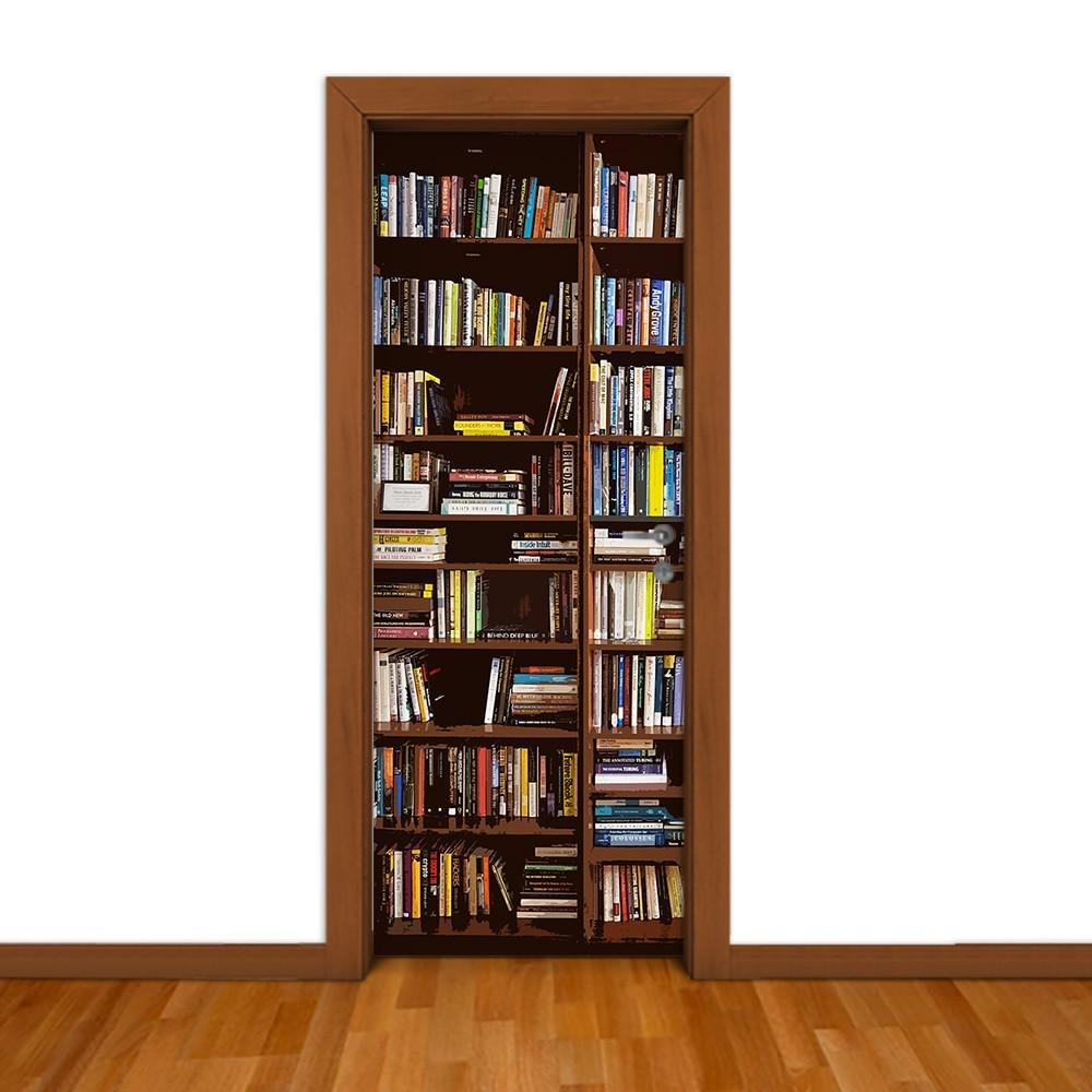Adesivo (Sticker) Para Porta: Estante De Livros