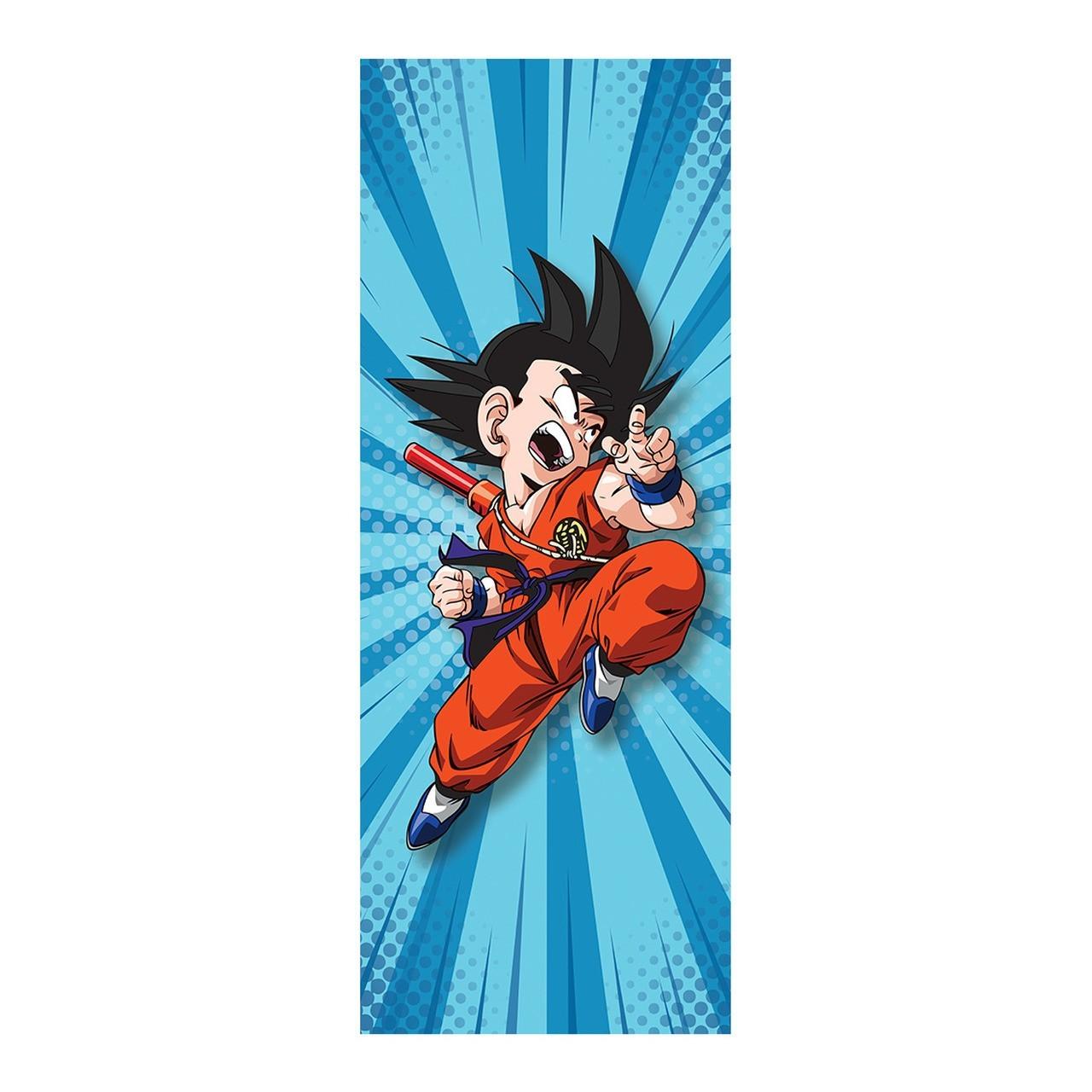 "Adesivo (Sticker) Para Porta ""Goku Kid (Criança)"": Dragon Ball - Exclusivo"