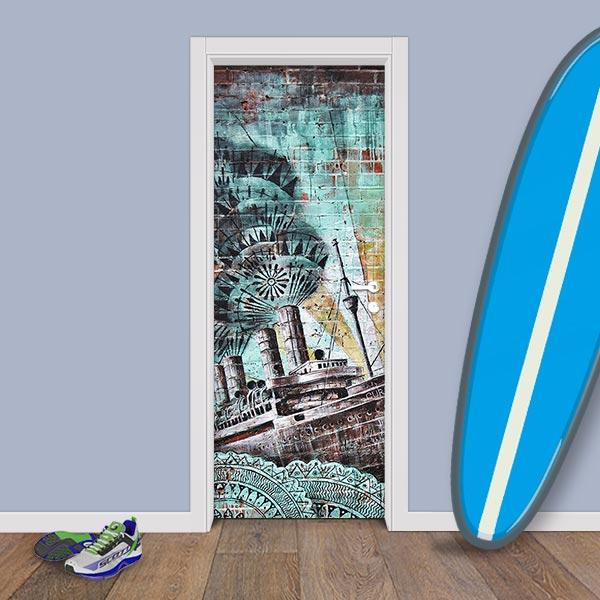 Adesivo (Sticker) Para Porta: Grafite Titanic