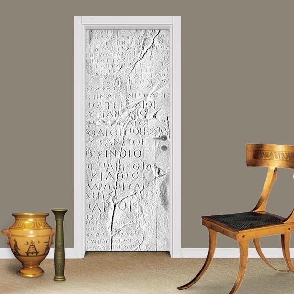 Adesivo (Sticker) Para Porta: Hieróglifos