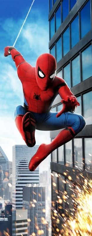 Adesivo (Sticker) Para Porta Homem Aranha: De Volta Ao Lar - Marvel