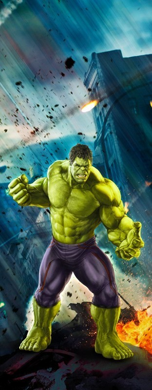 Adesivo (Sticker) Para Porta: Hulk - Marvel