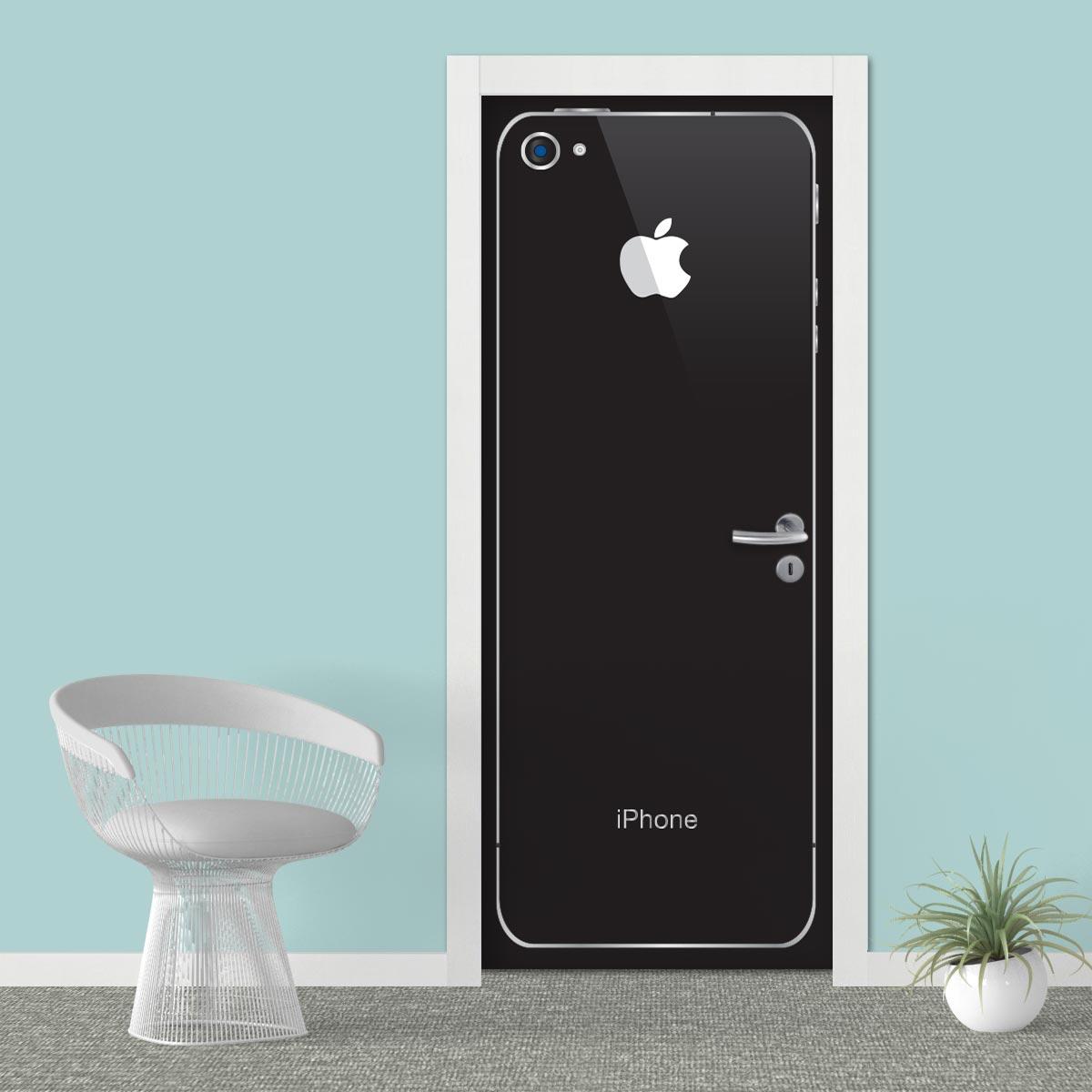 Adesivo (Sticker) Para Porta: Iphone