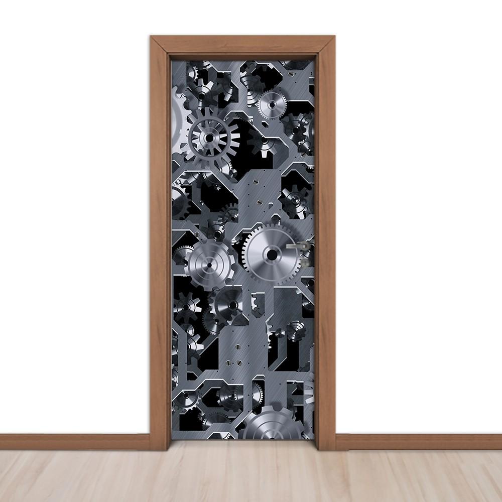 Adesivo (Sticker) Para Porta: Mecanismo De Metal
