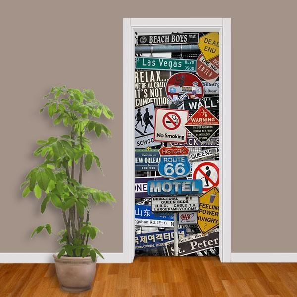 Adesivo (Sticker) Para Porta: Placas