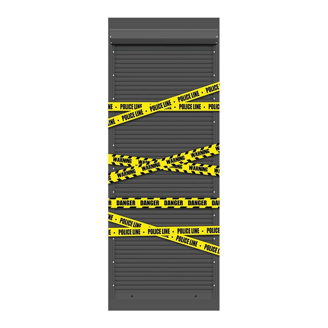 """Adesivo (Sticker) Para Porta """"Police Line - Danger"""" (Faixa da Policia - Perigo) - Exclusivo"""