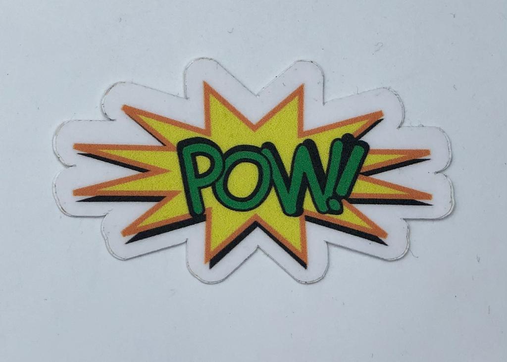 Adesivo (Sticker) Pow! Quadrinhos