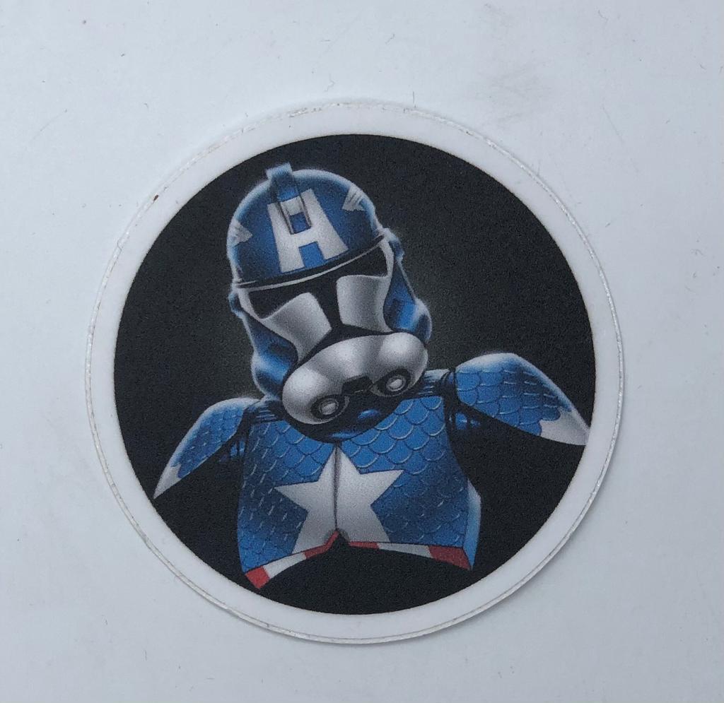 Adesivo (Sticker) StormAmérica (Stormtrooper Capitão América)