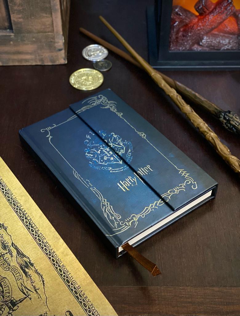Agenda/Caderneta Diário Hogwarts Harry Potter Fechadura Magnética