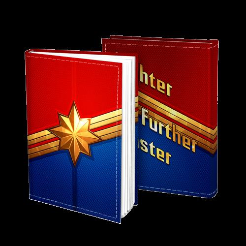 Agenda/Caderneta Capitã Marvel (Captain Marvel): Marvel