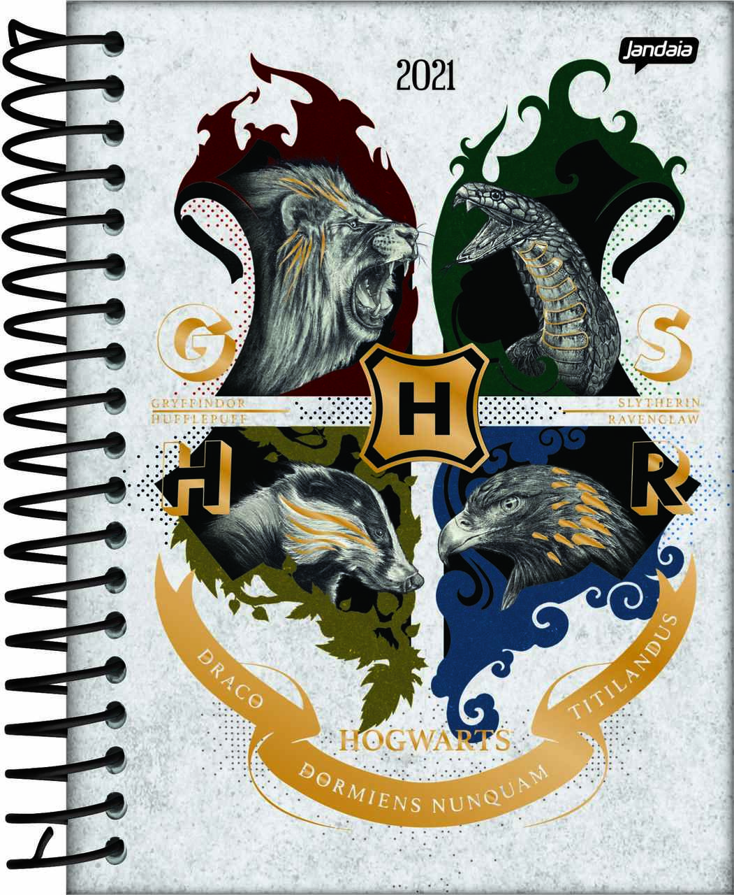 Agenda Diária Geek Emblema Hogwarts: Harry Potter - 352 Folhas - Jandaia