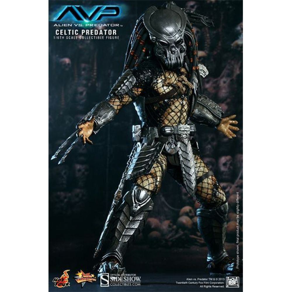 Alien vs Predador / Predator: Celtic Predador / Predator Escala 1/6 - Hot Toys