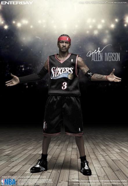 Allen Iverson NBA Philadelphia 76ers Escala 1/6 - Enterbay